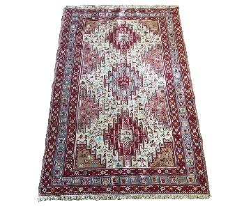 Persian Silk Sumac Twin Hand Knotted Carpet