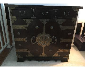 Vintage Asian Chest Table