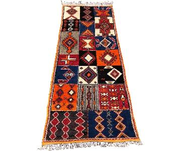 Moroccan Tribal Style Colorful Wool Carpet
