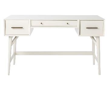 West Elm Mid-Century Desk in White