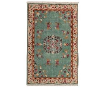 World Market Boho Hand-Knotted Wool Lille Area Rug
