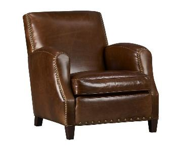 Crate & Barrel Metropole Leather Chair