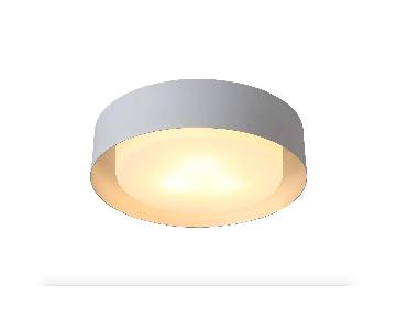 Mercury Row Neophytos 3-Light Flush Mount in White & Silver