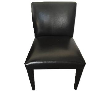 Room & Board Marie Black Leather Side Chairs