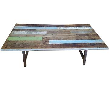 Modern Reclaimed Wood Conference Table w/ A Frame Legs