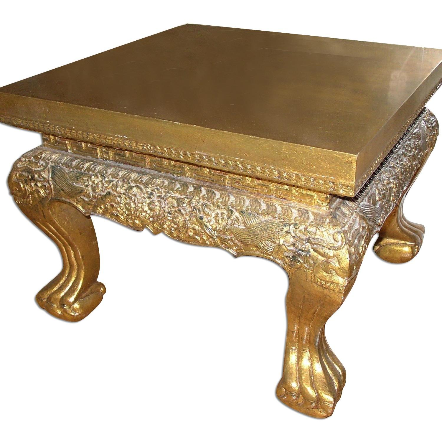 Karl Mann Ball & Claw Gold Leaf Cocktail/End Table