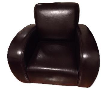 Italian Leather Armchairs