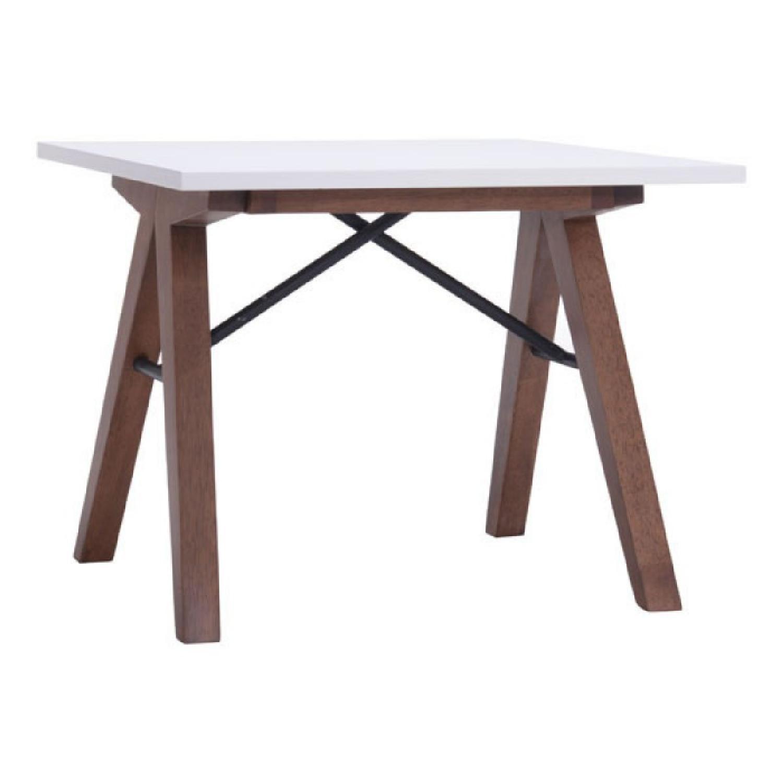 Mid Century Modern White Side Table