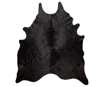 Ikea Koldby Cowhide Rug in Black