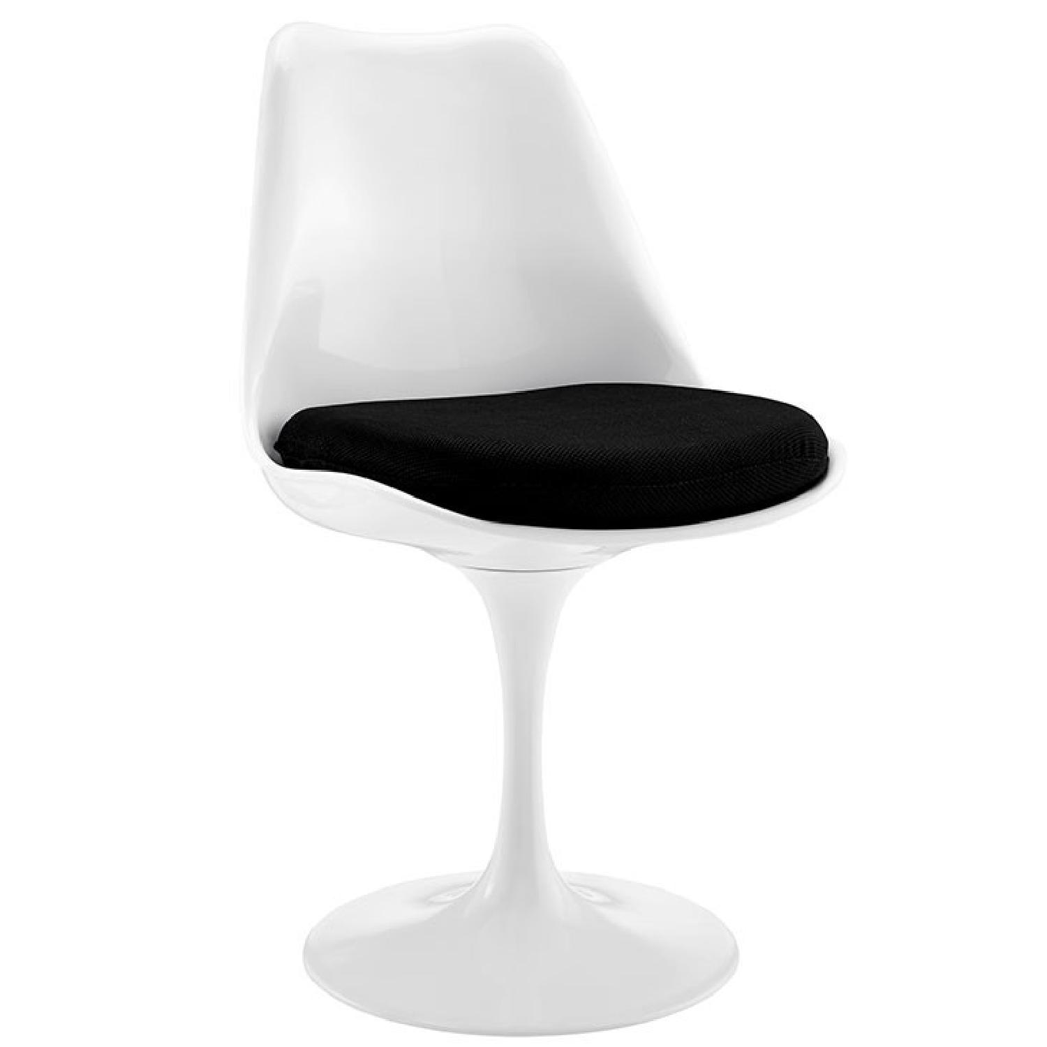 Tulip Fabric Dining Chair in Black