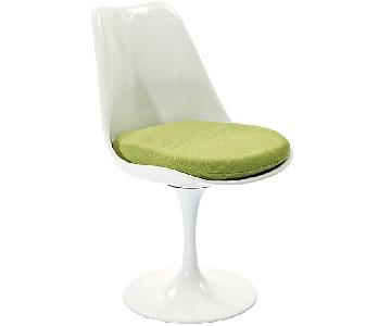 Tulip Fabric Dining Chair in Green