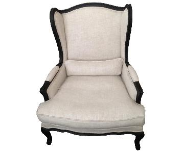 Restoration Hardware Lorraine Wingback Chair ...