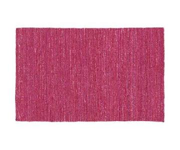 CB2 Magenta Pink Woven Rug
