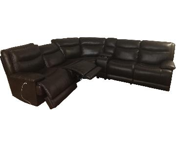 Bob's Leather 5 Piece Reclining Sectional Sofa