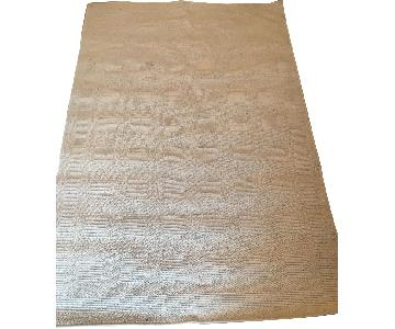 Beige Wool Area Rug