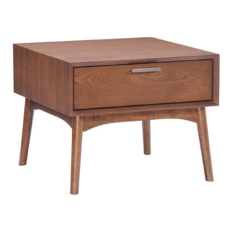 Manhattan Home Design District Side Table in Walnut
