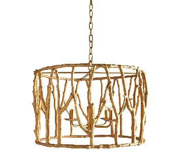 Horchow Neiman Marcus Gold Oakley Pendant Light