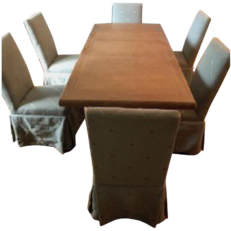 Ballard Designs Vendome Pedestal Dining Table W 6 Chairs Aptdeco