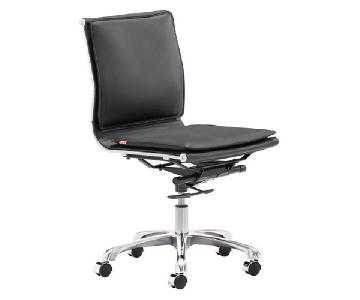 Manhattan Home Design Black Armless Office Chair
