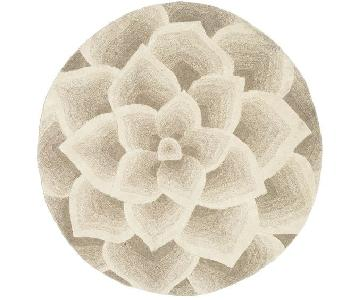 Pier 1 Round Rose Tufted Rug