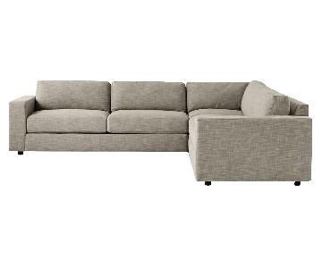 West Elm Urban 3-Piece Small Sectional Sofa