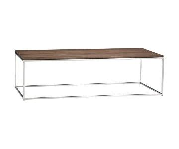 Crate & Barrel Frame Medium Coffee Table + Side Table