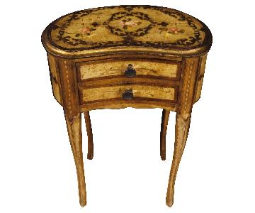 20th Century Painted Gilt Wood Italian Bedside Tables
