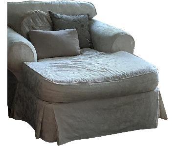 Cream/White Chaise Lounge