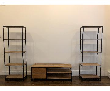 Crate & Barrel Knox TV Stand w/ 2 Bookshelves