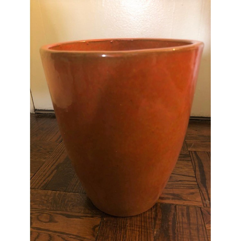 West Elm Burnt Orange Planter-0