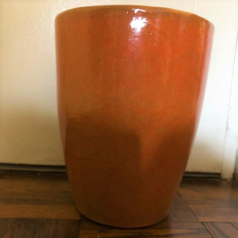 West Elm Burnt Orange Planter-1