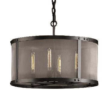 Restoration Hardware Riveted Mesh Round Chandelier