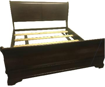 Wooden King Sleigh Bed