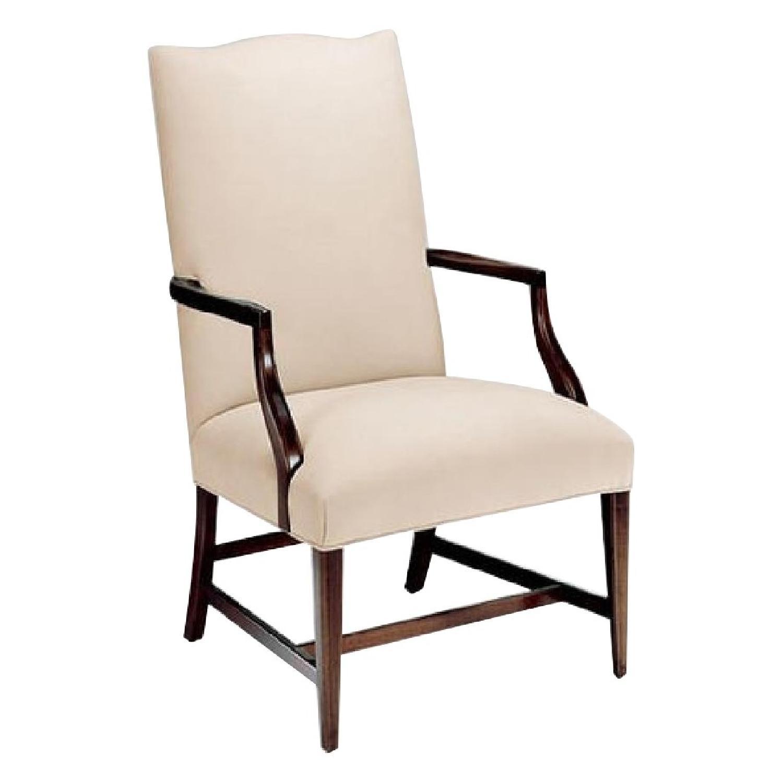 Ethan Allen Washington Wood & Fabric Chair
