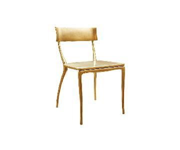 CB2 Midas Gold Dining Chairs