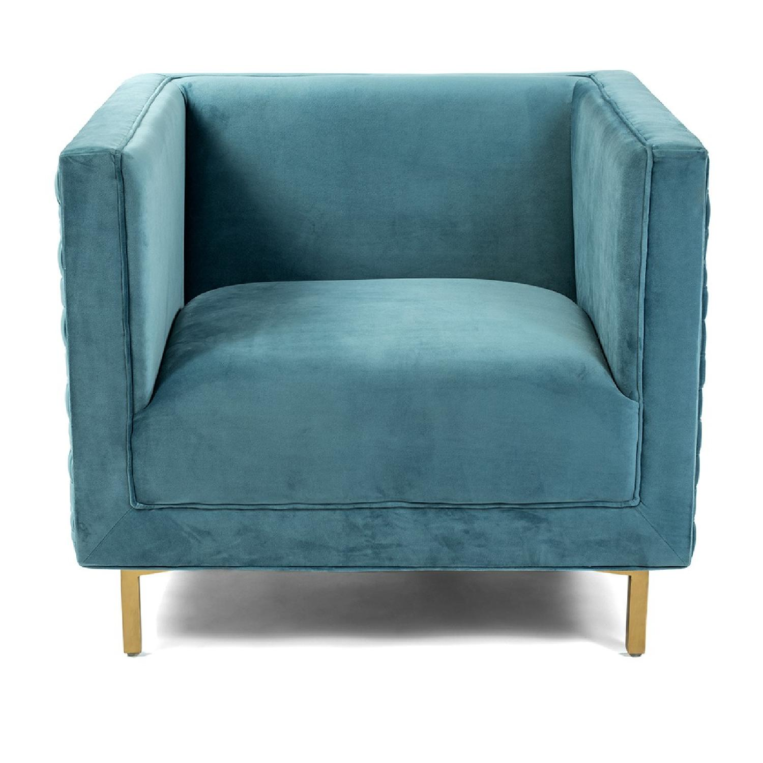 Lulu & Gergioa Caieen Teal Chair