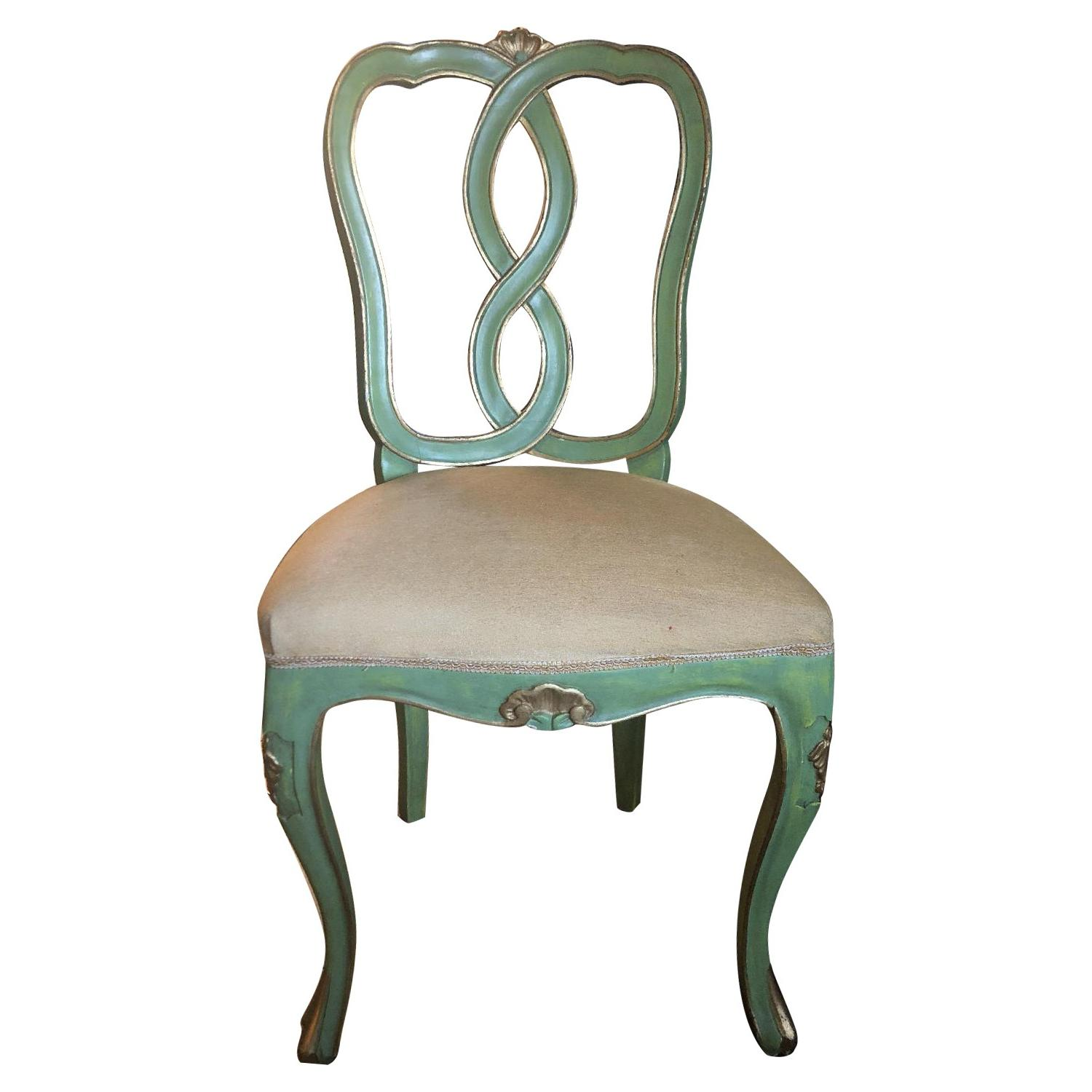 Vintage Green/Gold Chairs