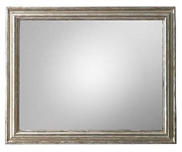 Restoration Hardware Baroque Aged Silver-Leaf Mirror