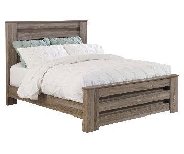 Jennifer Furniture Zachary Wood Panel Bed