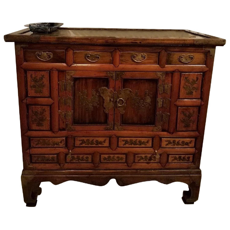 Asian 5-Drawer Cabinet w/ Brass Butterfly Hardware