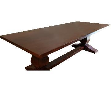 Restoration Hardware Wooden Dining Table
