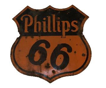Vintage Circa 1940s Phillips 66 Sign