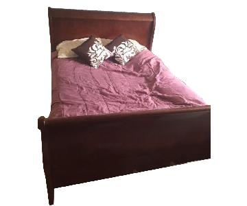 Ashley Queen Bed Frame in Cherry Finish