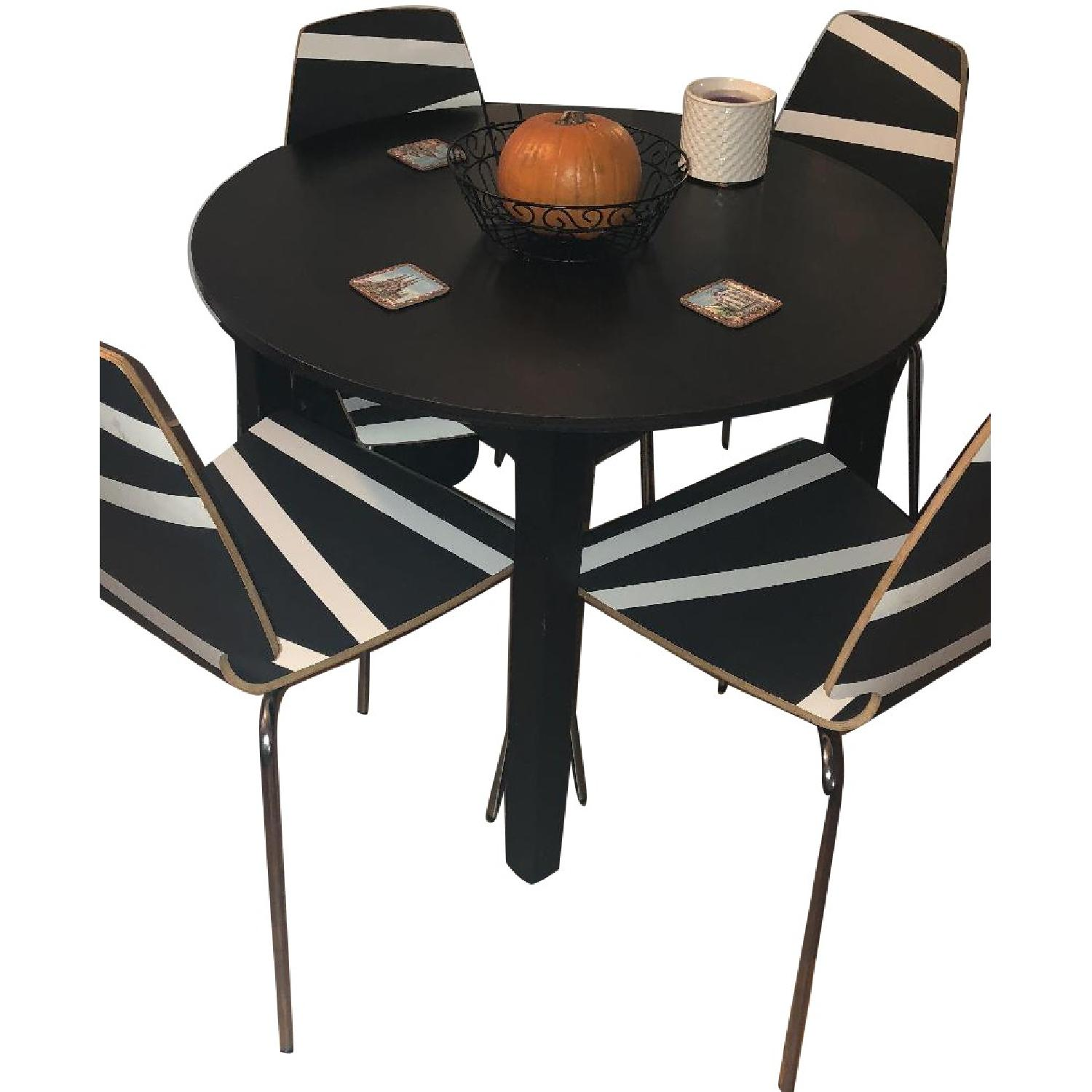 Ikea Round Dining Table W/ 4 Vilmar Chairs ...
