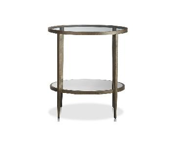 Crate & Barrel Clairemont Round Accent Table