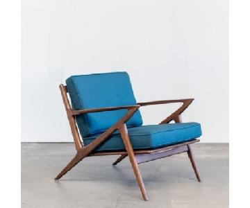 Poul Jensen for Selig Mid Century Modern Style Z Chair