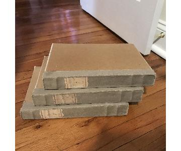 Restoration Hardware Large Tomes (Set of 3) - Grey