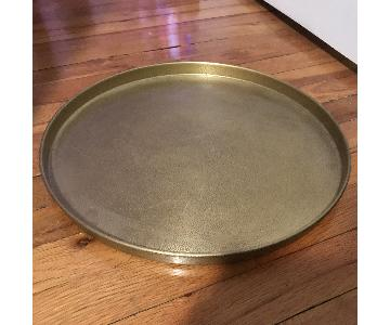 Restoration Hardware Etched Brass Shagreen Tray