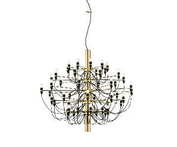 Flos Gino Sarfatti 2097/50 Suspension Lamp in Brass
