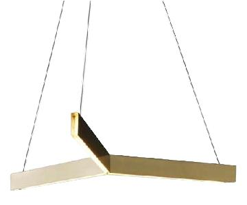 Tri-Pendant LED Ceiling Light in Brushed Brass